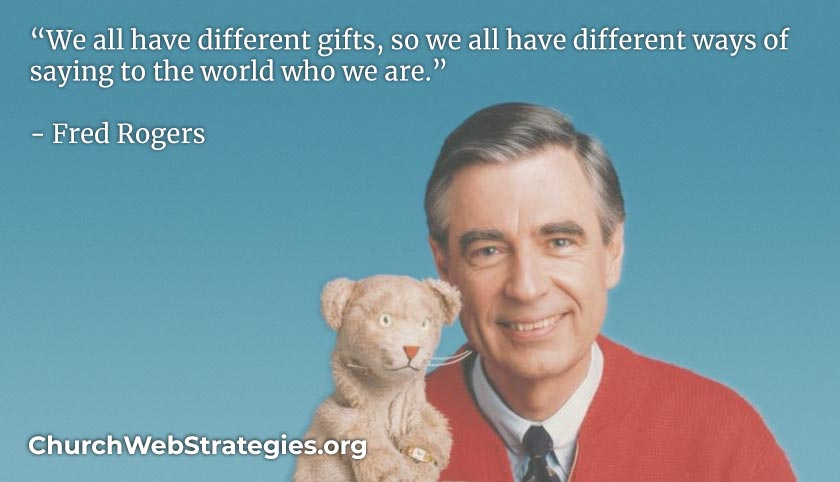 Fred Rogers and his puppet Daniel Tiger