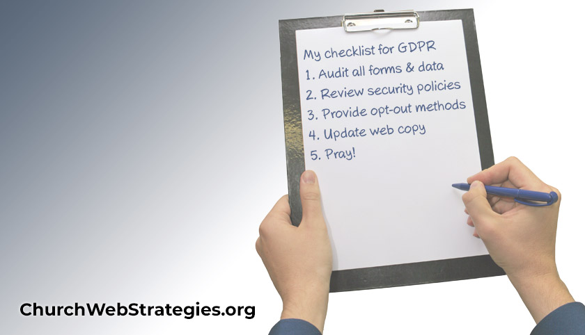 Church Communications Checklist for GDPR Compliance