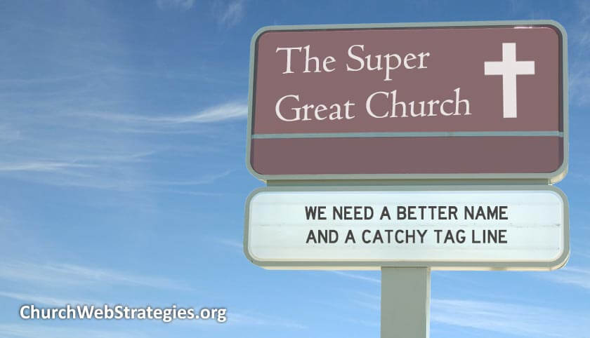 """made-up church sign called """"the super great church"""""""