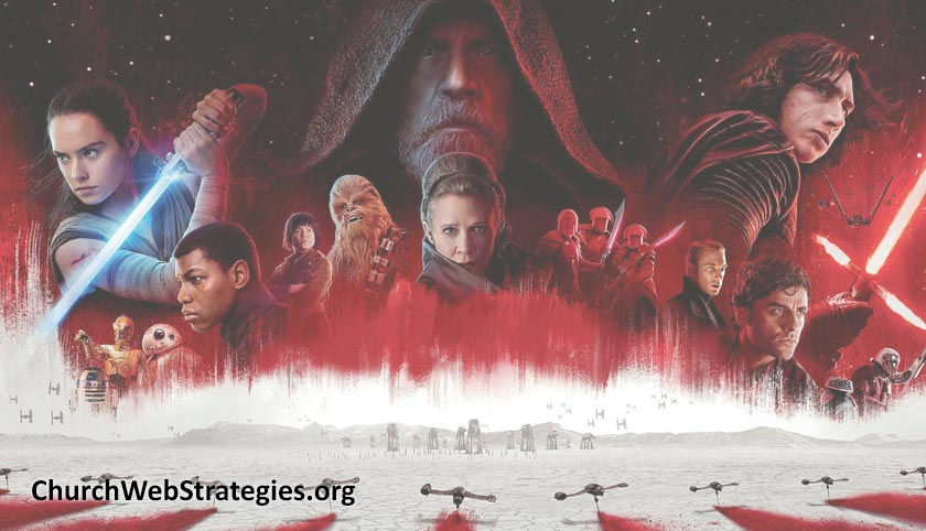 Collage of Star Wars: The Last Jedi characters